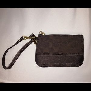Coach Bags - Coach brown and gold wristlet, never used